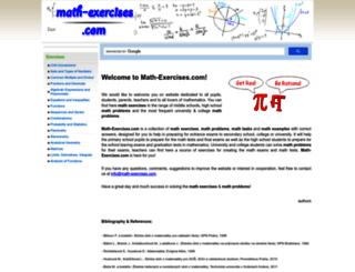 math-exercises.com screenshot