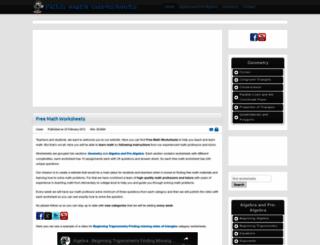 math-worksheet.org screenshot