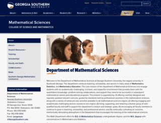 math.armstrong.edu screenshot