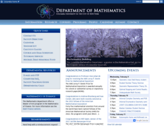 math.columbia.edu screenshot