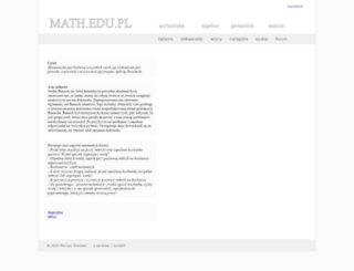 math.edu.pl screenshot