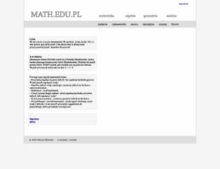 math.edu.pl screenshot