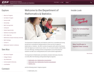 math.eku.edu screenshot