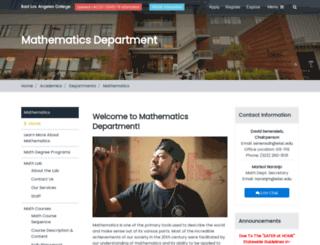 math.elac.edu screenshot
