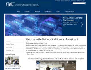 math.fau.edu screenshot