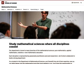 math.iupui.edu screenshot