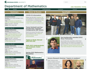 math.msu.edu screenshot