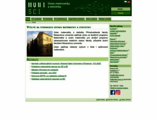 math.muni.cz screenshot