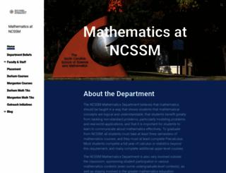 math.ncssm.edu screenshot