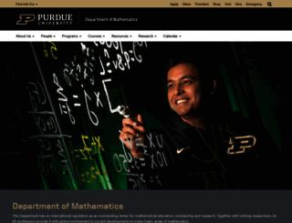 math.purdue.edu screenshot