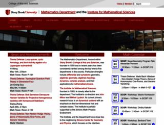 math.sunysb.edu screenshot
