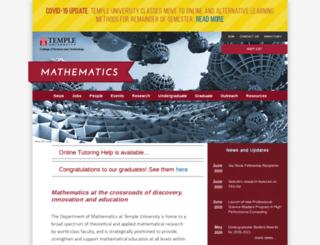 math.temple.edu screenshot