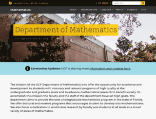 math.ucf.edu screenshot