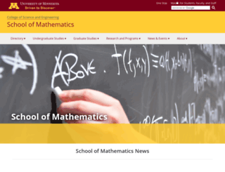 math.umn.edu screenshot