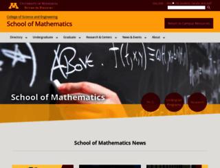 math.umn.edu screenshot