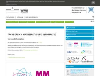 math.uni-muenster.de screenshot