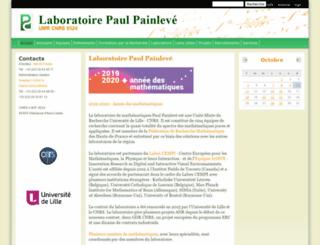 math.univ-lille1.fr screenshot