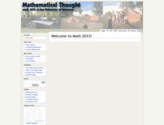 math2033.uark.edu screenshot