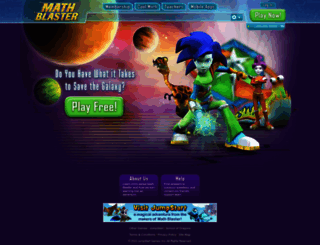 mathblaster.com screenshot
