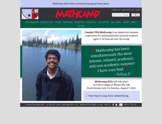 mathcamp.org screenshot