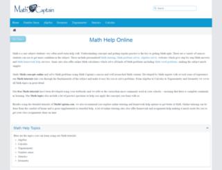 mathcaptain.com screenshot