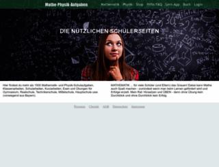 mathe-physik-aufgaben.de screenshot