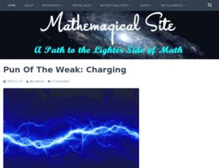 mathemagicalsite.wordpress.com screenshot