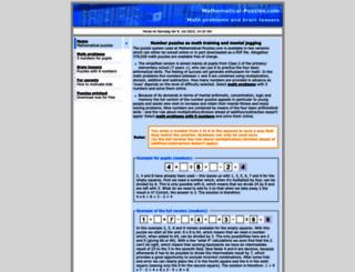 mathematical-puzzles.com screenshot