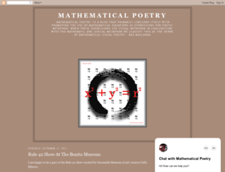 mathematicalpoetry.blogspot.com screenshot