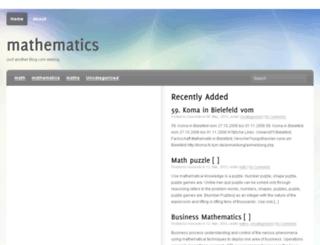 mathematics.blog.com screenshot