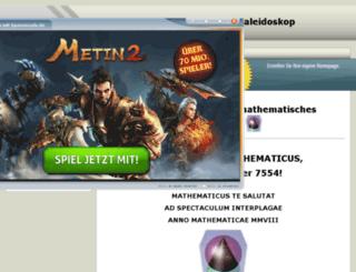 mathematicus.npage.de screenshot
