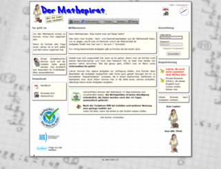 mathepirat.de screenshot