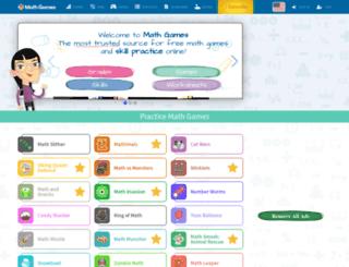 mathgames.com screenshot