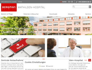 mathilden-hospital.net screenshot