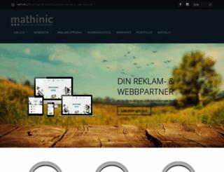 mathinic.se screenshot