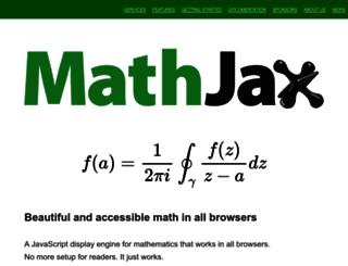 mathjax.org screenshot