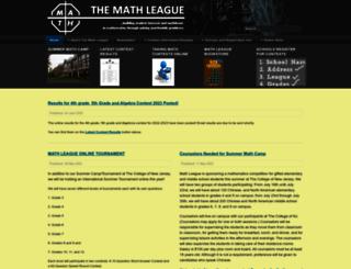 mathleague.com screenshot