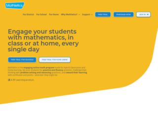 mathletics.sa.com screenshot