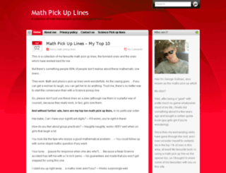 mathpickuplines.com screenshot