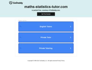 maths-statistics-tutor.com screenshot