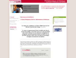 maths.cnam.fr screenshot