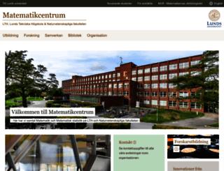 maths.lu.se screenshot
