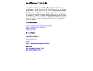 mathsaulycee.fr screenshot