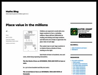 mathsblog.co.uk screenshot