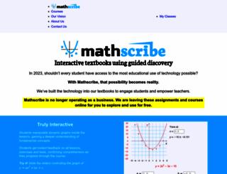 mathscribe.com screenshot