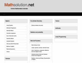 mathsolution.net screenshot
