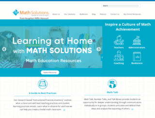 mathsolutions.com screenshot