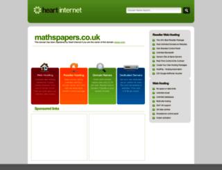 mathspapers.co.uk screenshot