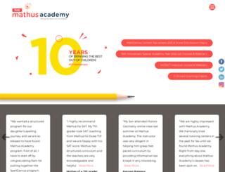 mathusacademy.com screenshot