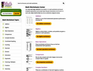 mathworksheetscenter.com screenshot